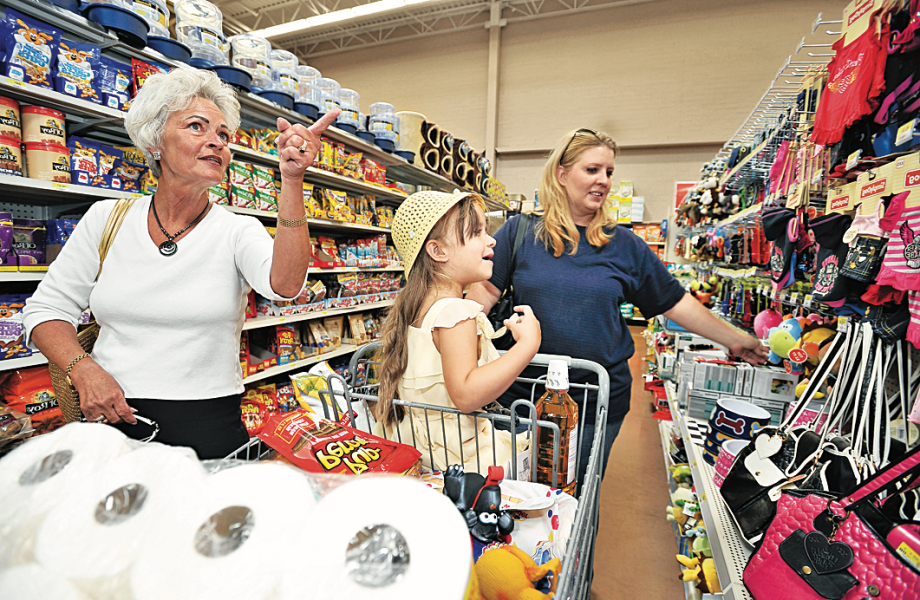 Women in Family Shopping In-Store Shopping