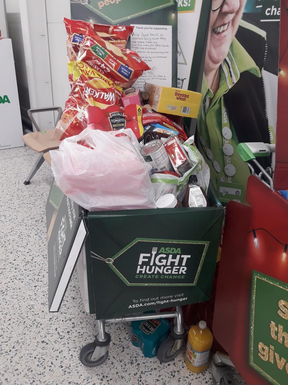Food bank donations | Asda Barry