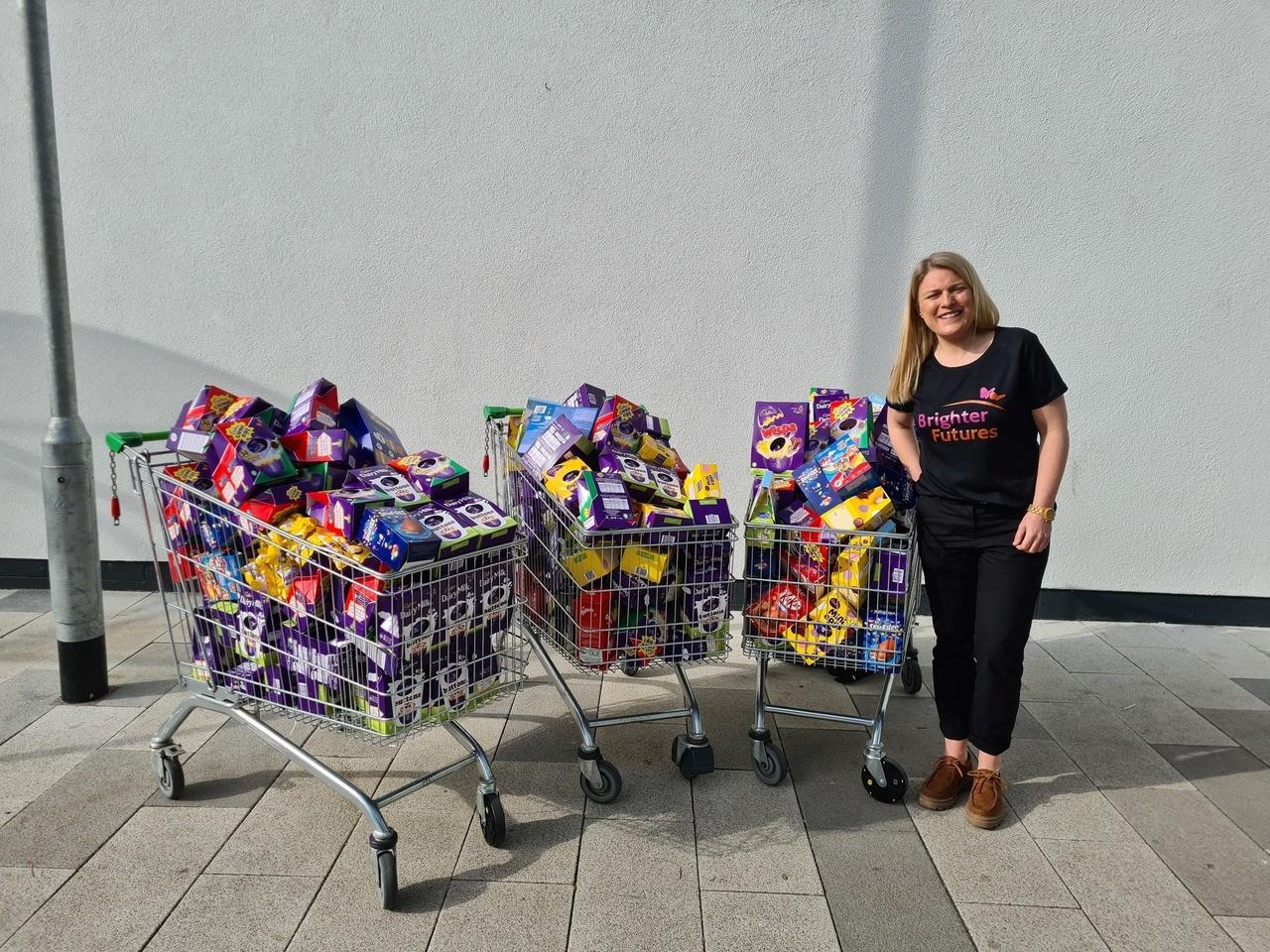 Customer Easter egg giving | Asda West Swindon