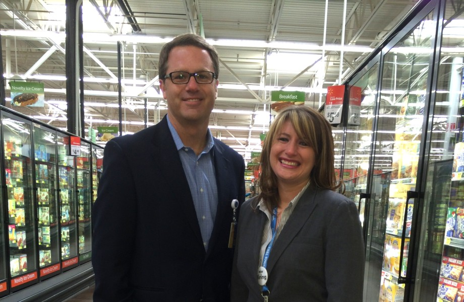 Sarah Fischer with Doug McMillon