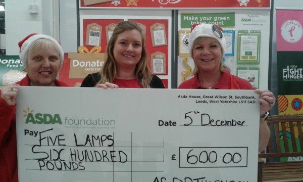 Asda Thornaby supporting Five Lamps