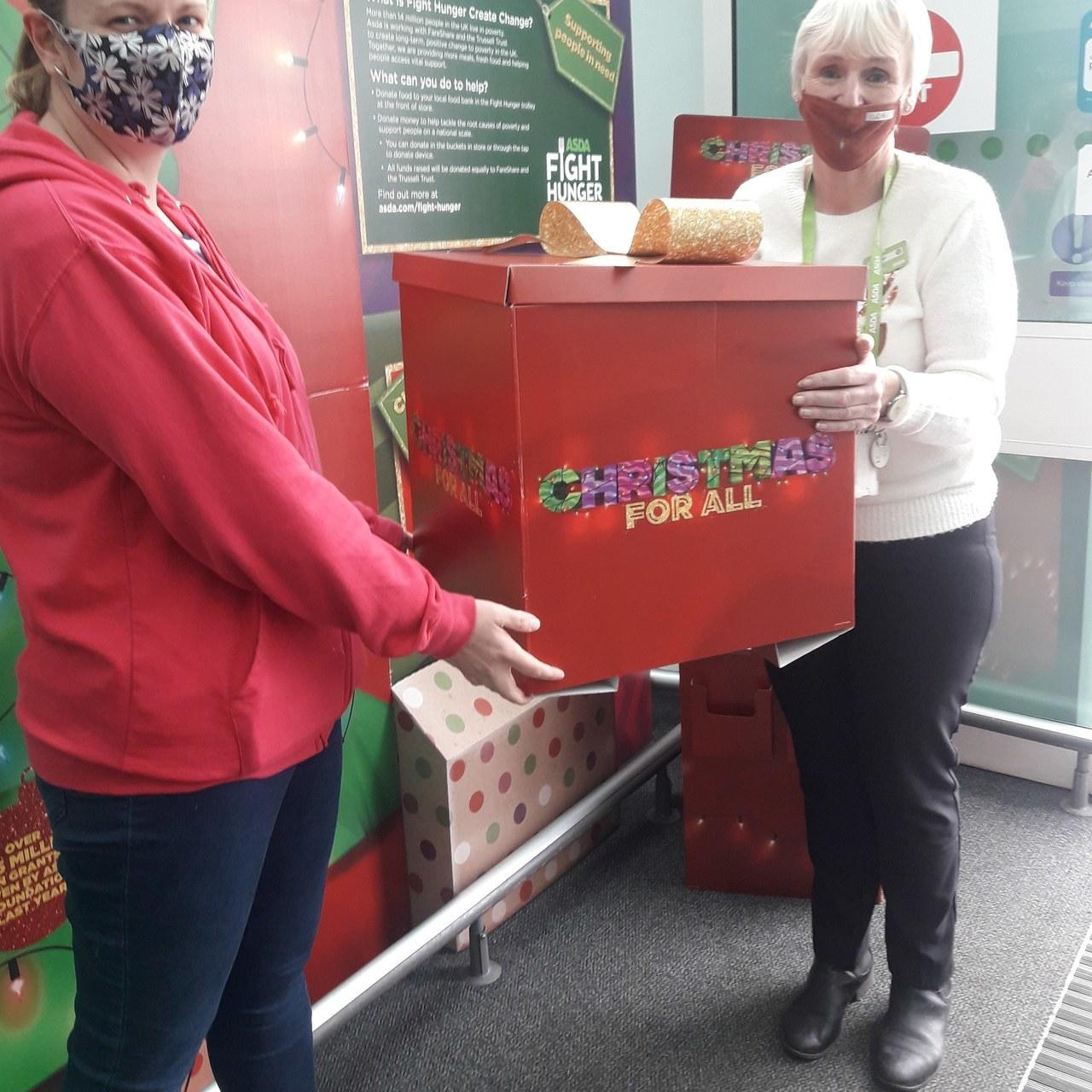 Asda St Helen's donates toFriends - Play for Disabled Children   Asda St Helens