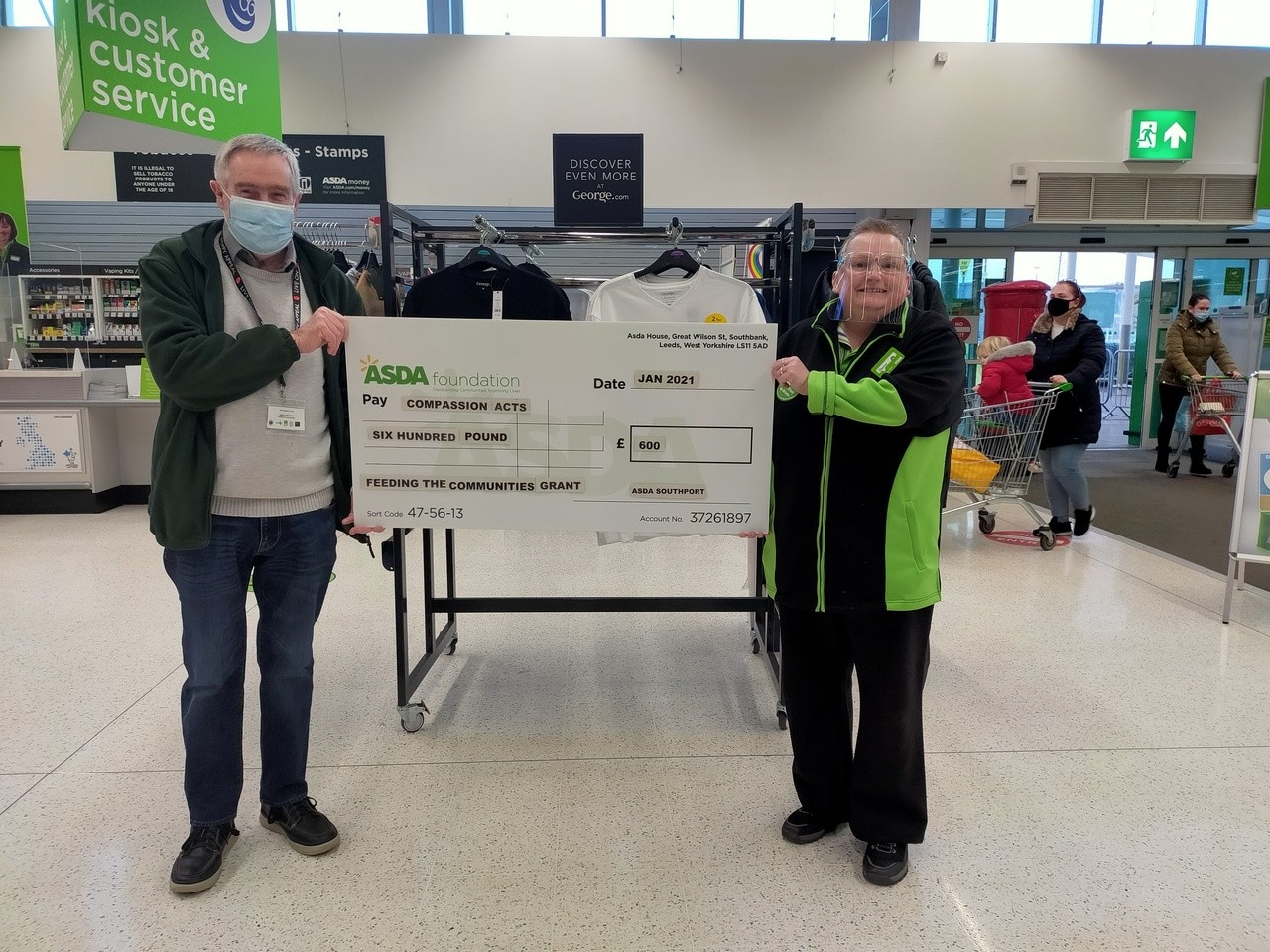 Donation for Compassion Acts | Asda Southport