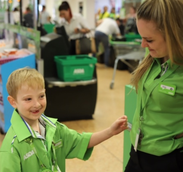 Little Dexer is part of the team at Asda Leamington Spa