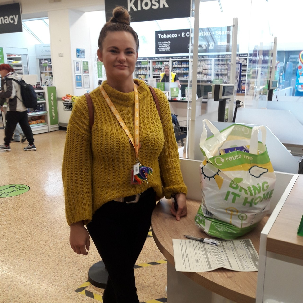 Cheshire without abuse Lianne picking up a donation  | Asda Crewe