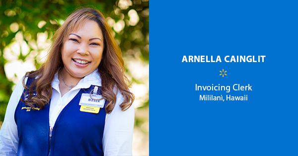 Arnella Cainglit, Invoicing Clerk – Mililani, Hawaii