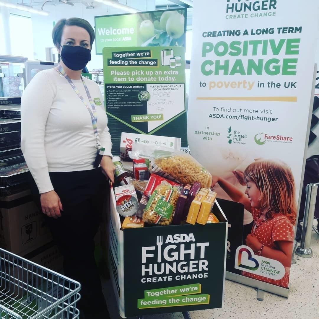 Foodbank support | Asda South Shields