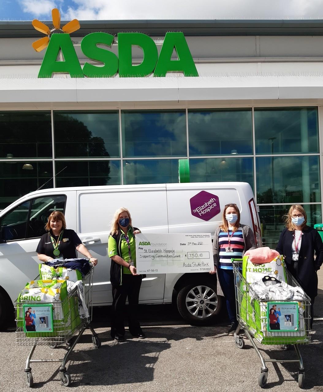 Supporting Communities Donation | Asda Ipswich Stoke Park