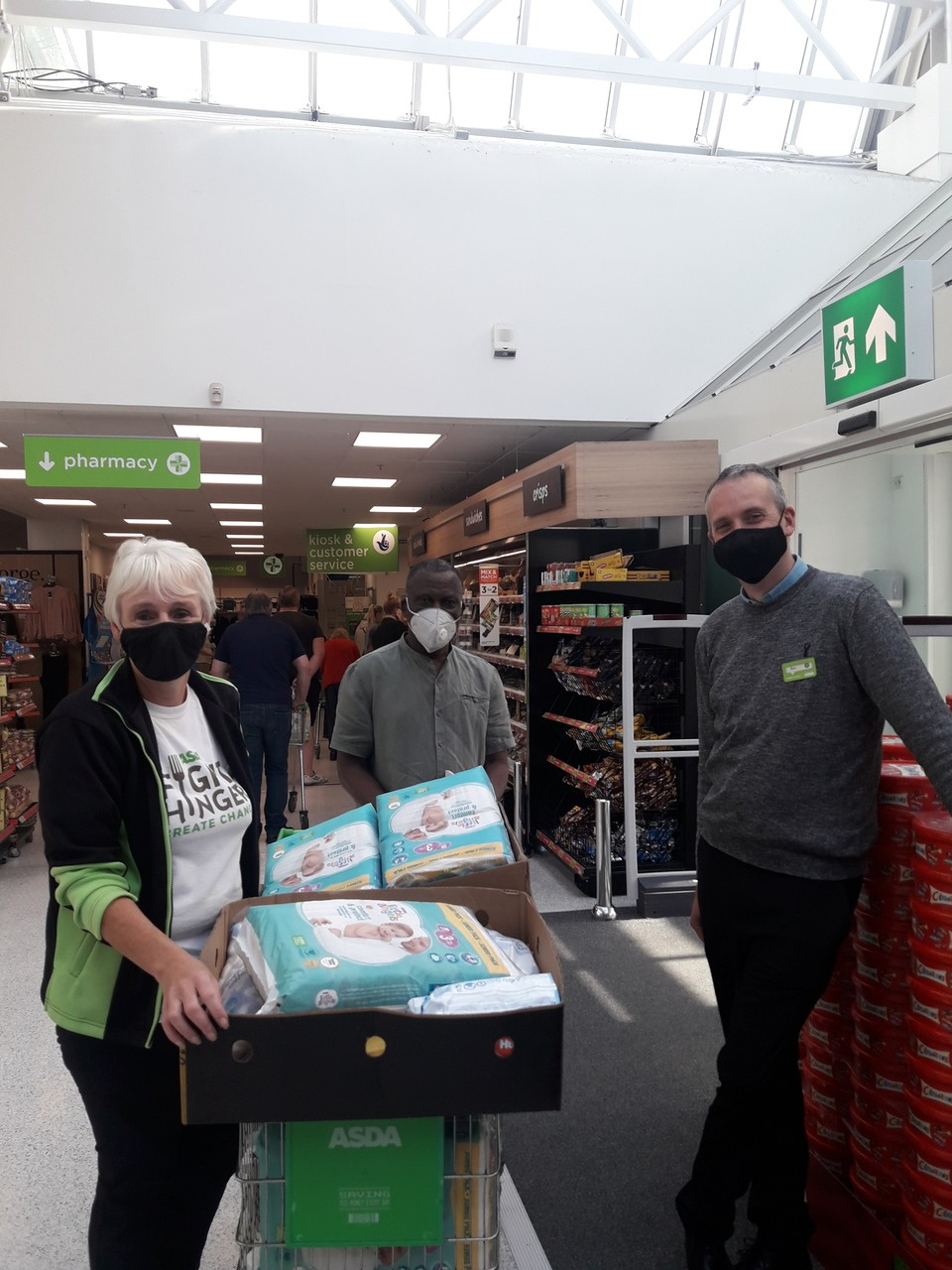 Donation to our local B.A.M.E. group | Asda St Helens