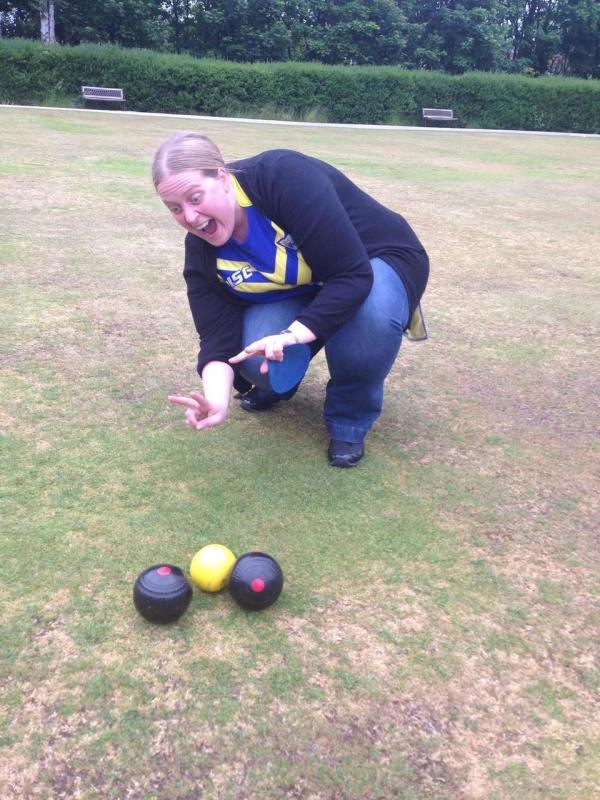 Asda Birchwood community champion Beky Wakefield is a keen crown green bowler