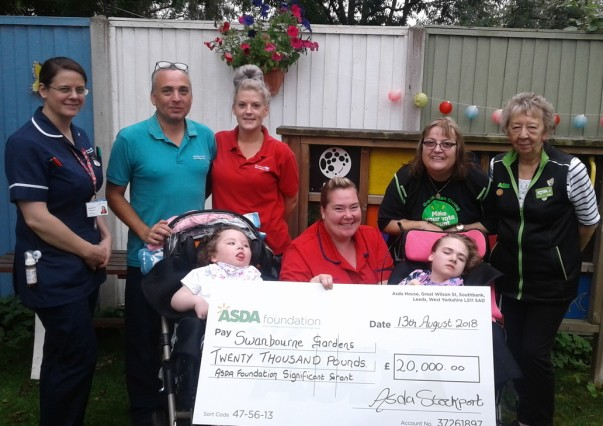 Asda community champions with the Swanbourne Gardens team