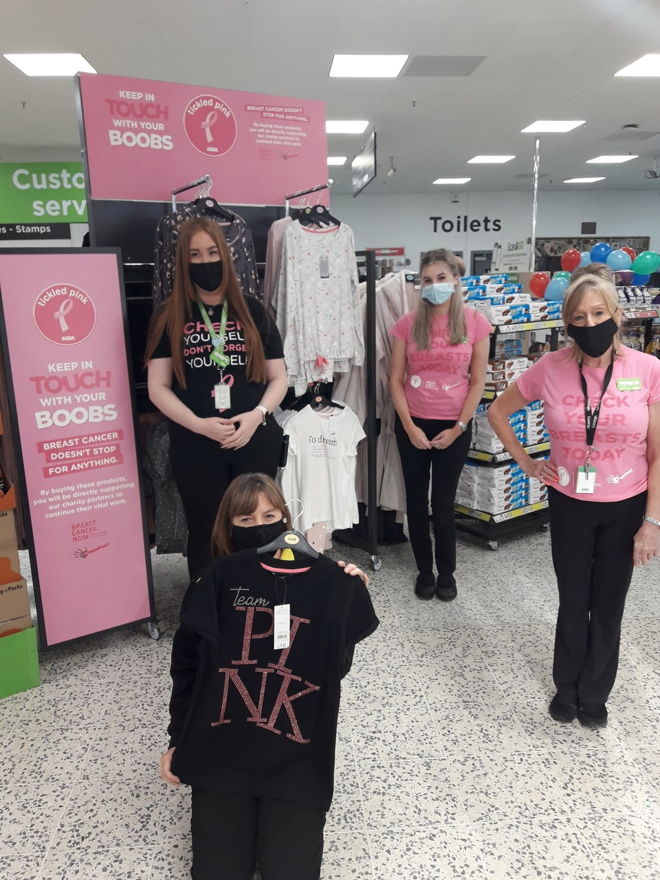 Tickled Pink fundraising  | Asda Gosforth