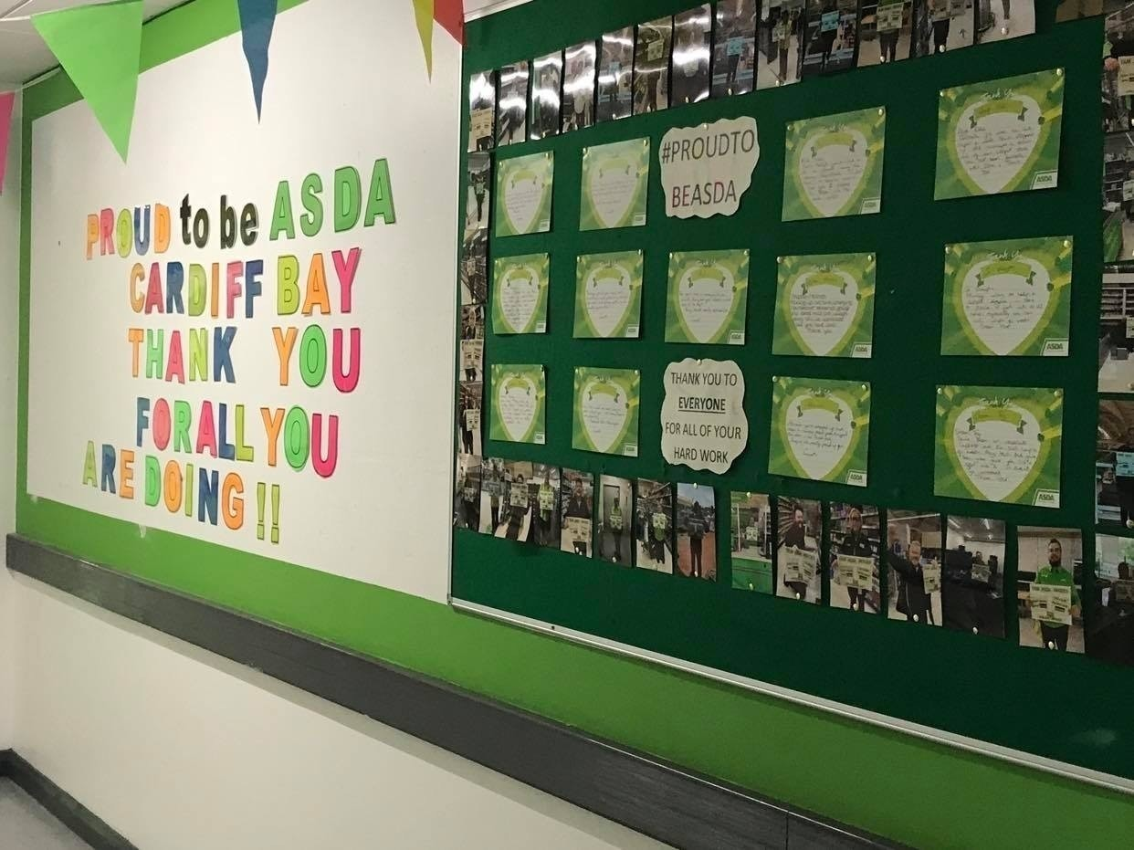 Thank you to our colleagues | Asda Cardiff Bay