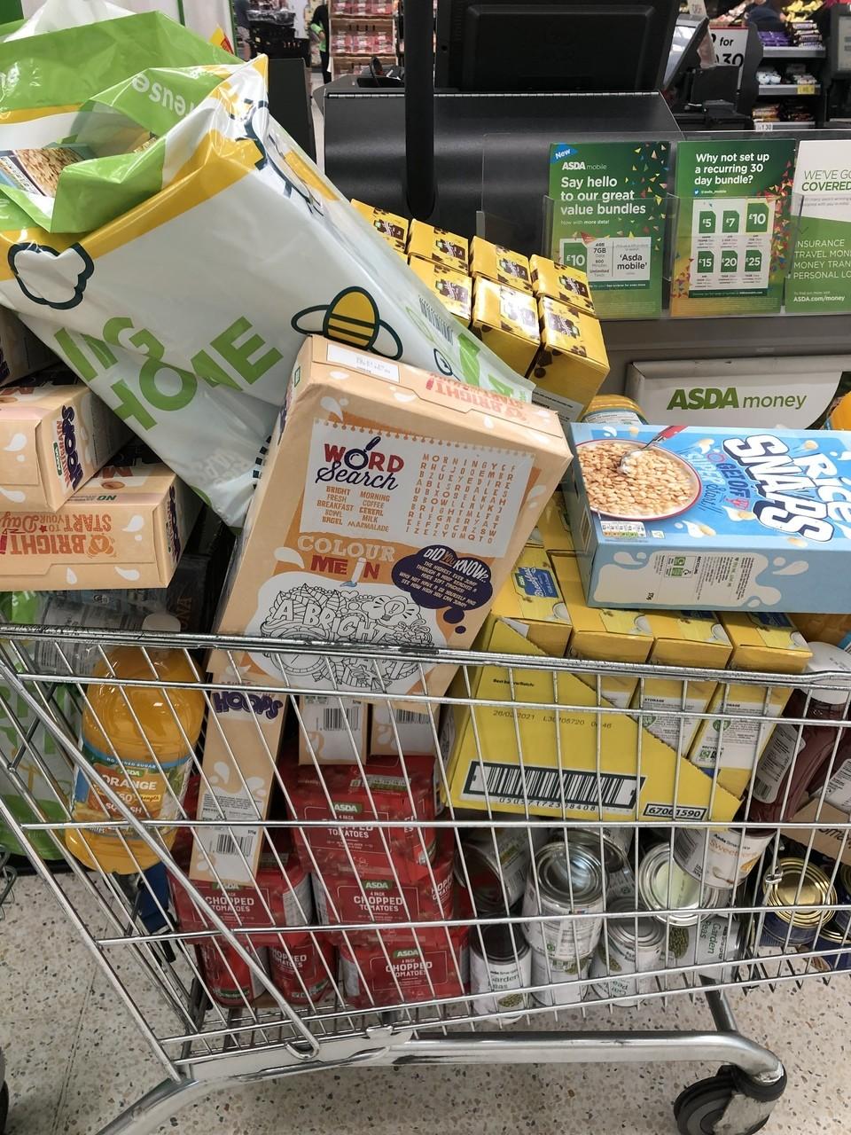 Food parcels for children | Asda Nottingham West Bridgford
