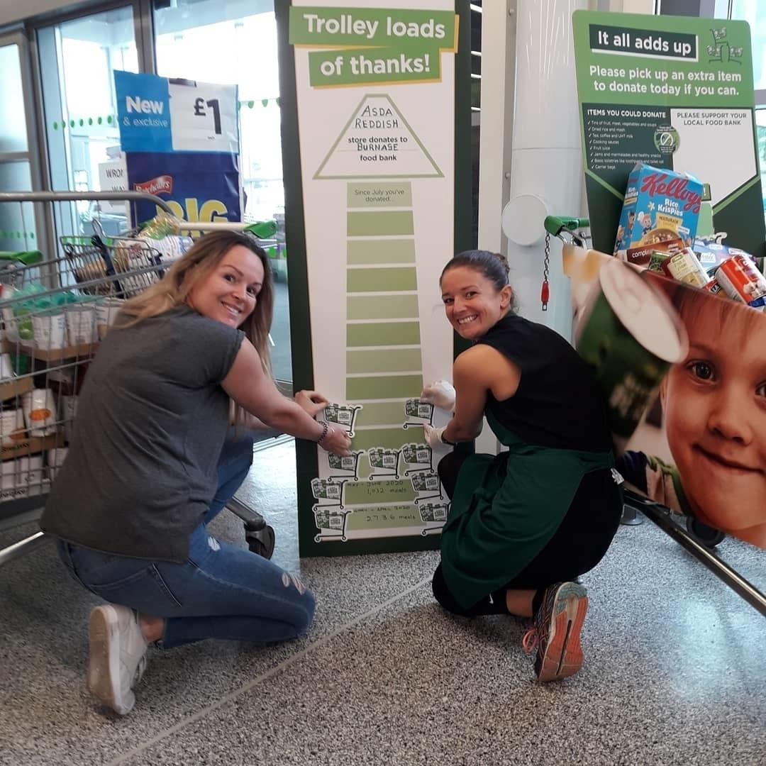 Donation to Burnage Foodbank | Asda Reddish