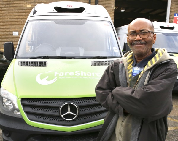 Jeff Davis is FareShare's first full time London driver thanks to Asda Fight Hunger Create Change