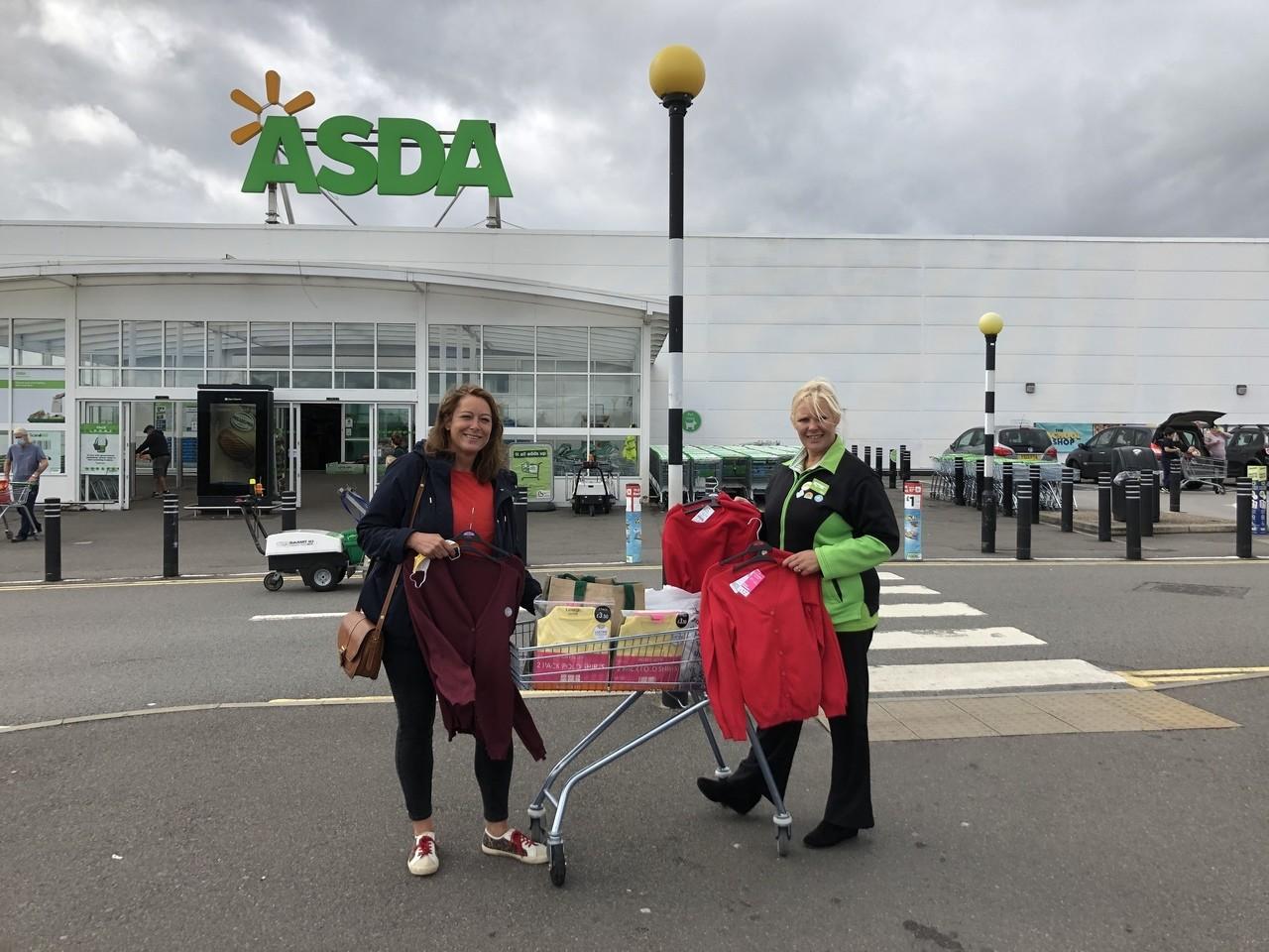 Supporting our community with a donation toOckbrook / Borrowash School Uniform Bank | Asda Derby