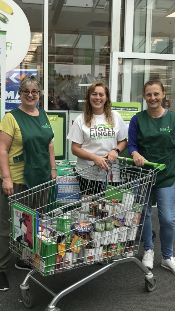 Asda Fight Hunger Create Change at Asda Cardiff Bay