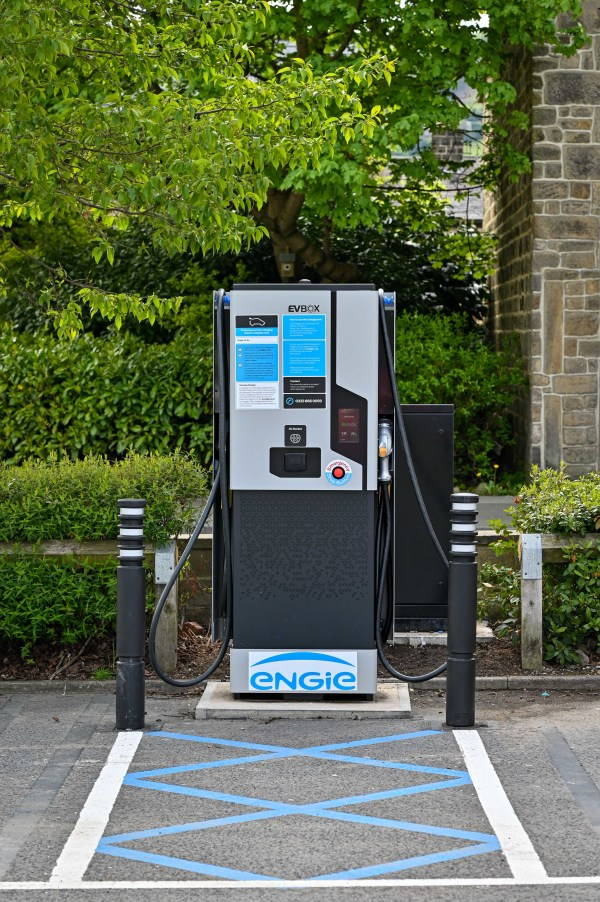 One of the new EV rapid charge points at Asda