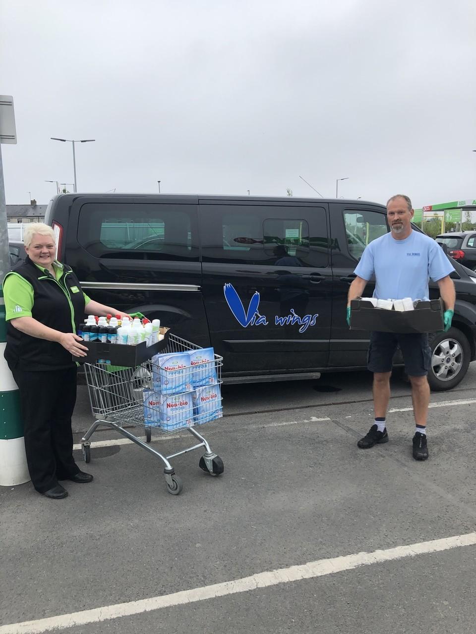 Via Wings charity donation  | Asda Portadown