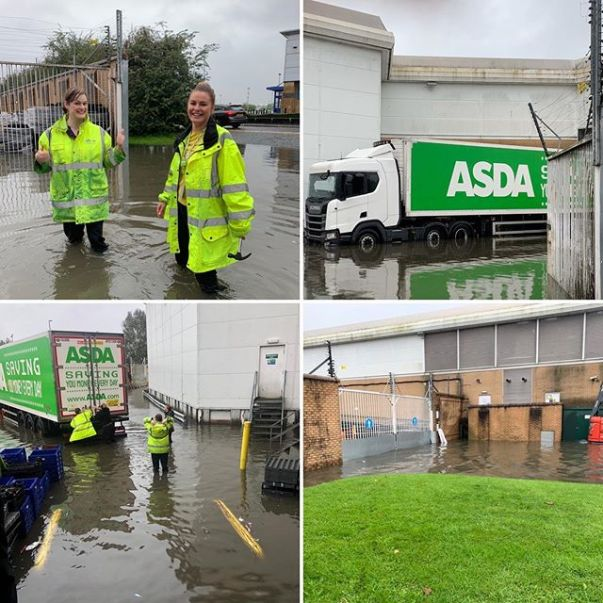 Our Home Shopping team at Asda Wigan defied floods to deliver orders