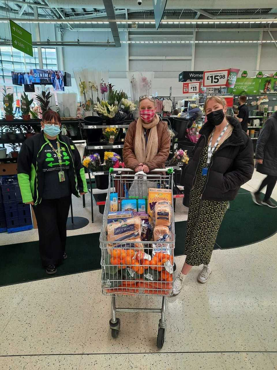 Donation to CCJ Worcester | Asda Worcester