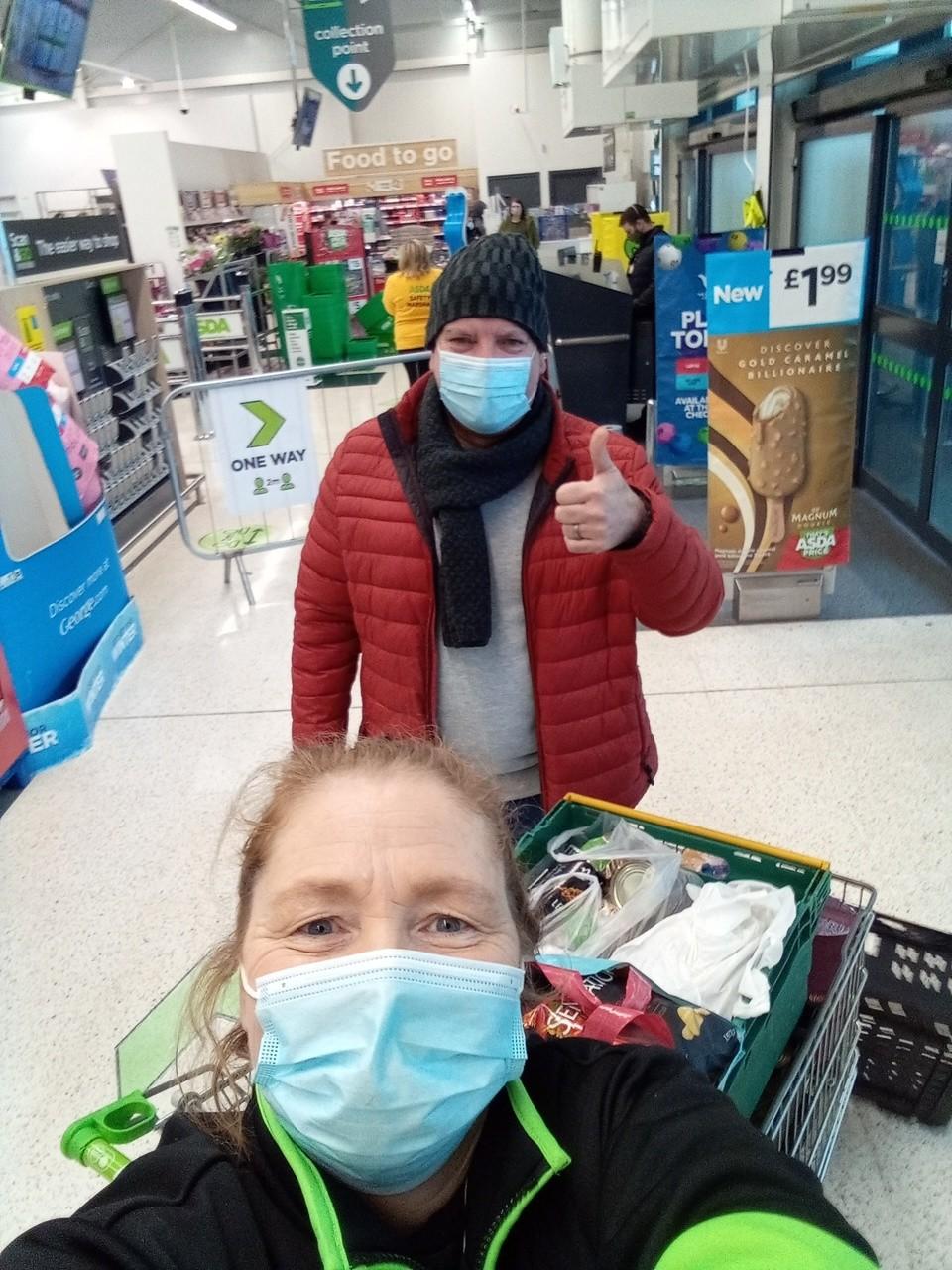 Foodbank donations   Asda Newport Pillgwenlly
