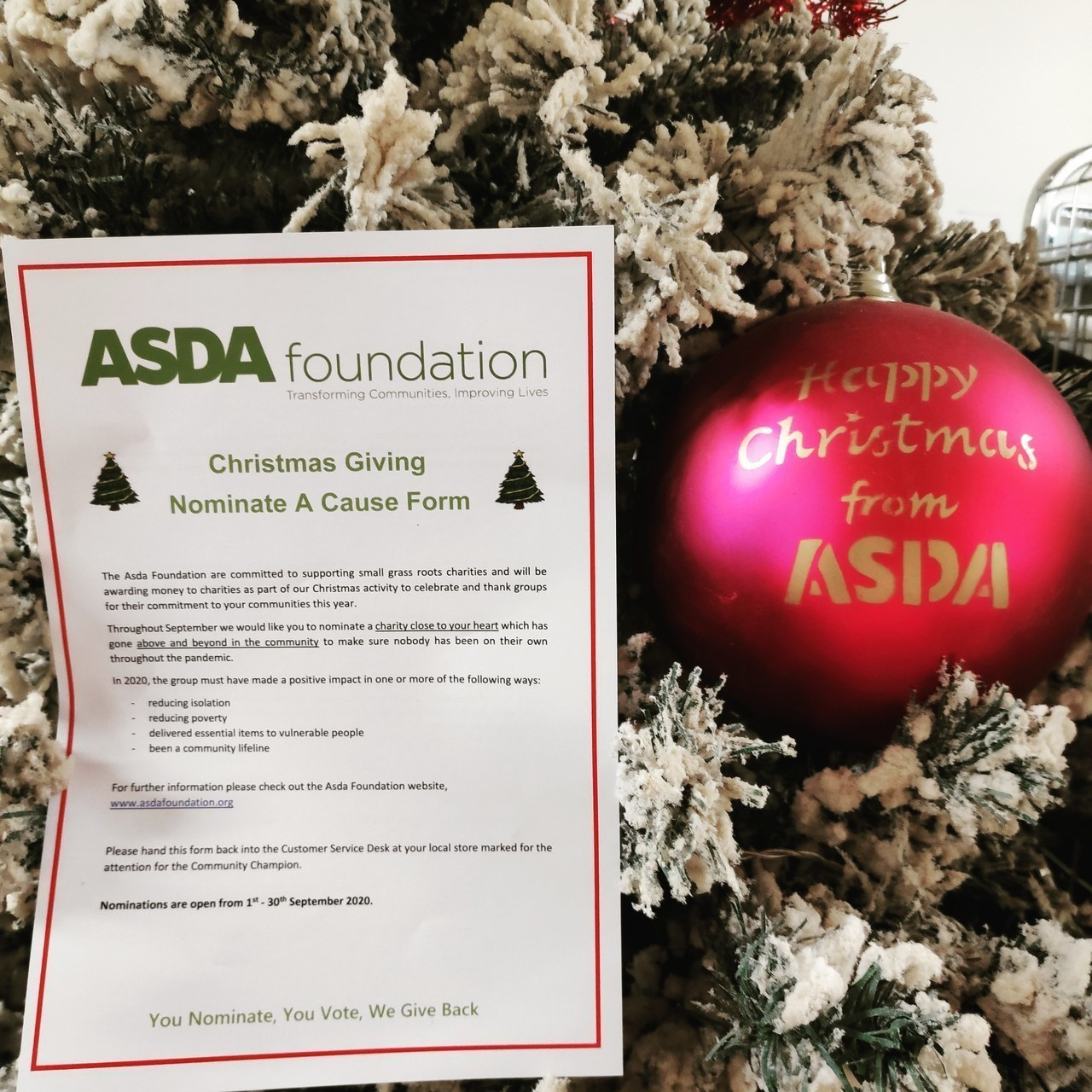 Christmas giving nominations | Asda Motherwell