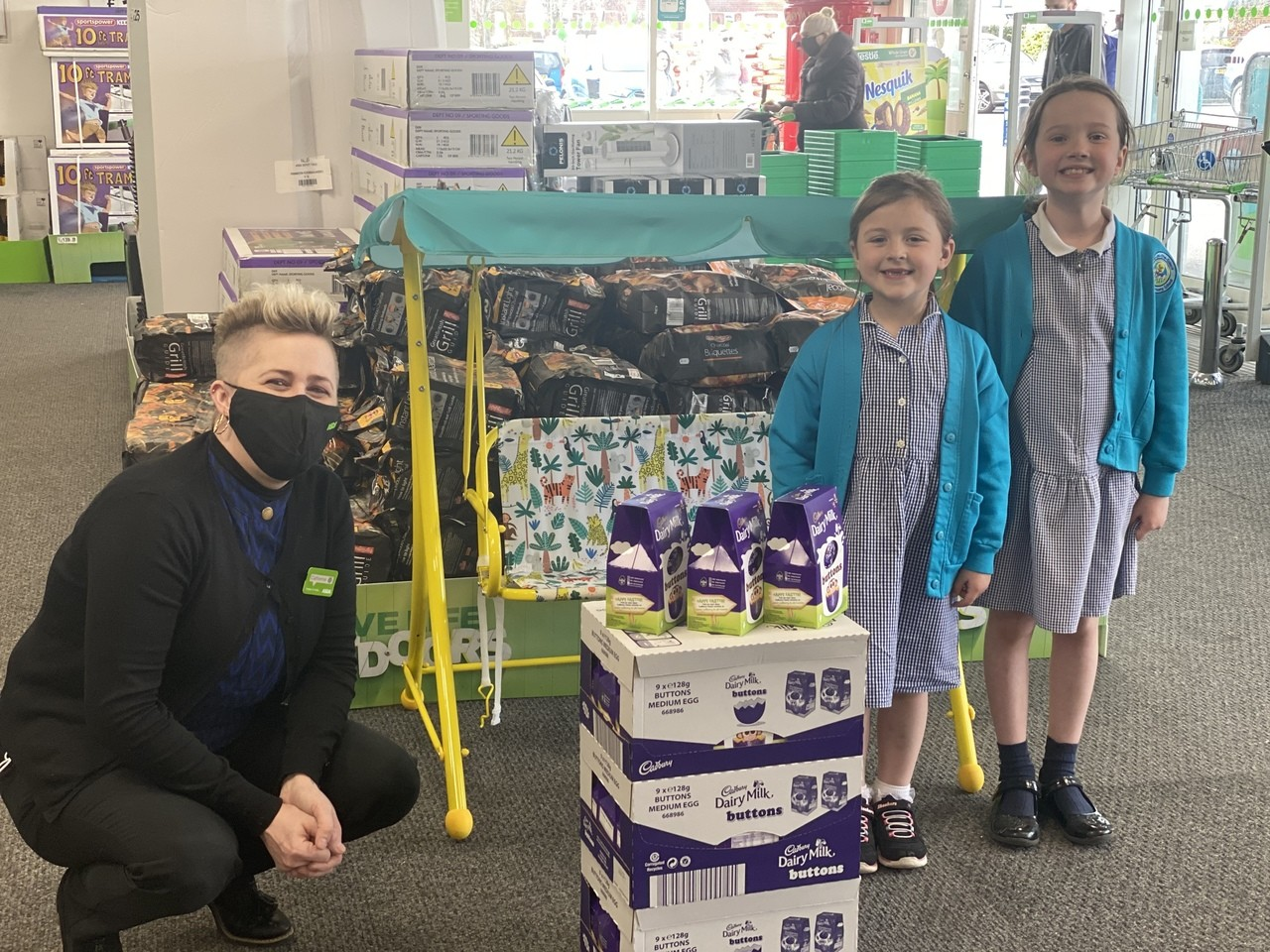 Proud to support Evie and Ava's eggstraordinary acts of kindness | Asda Gosport