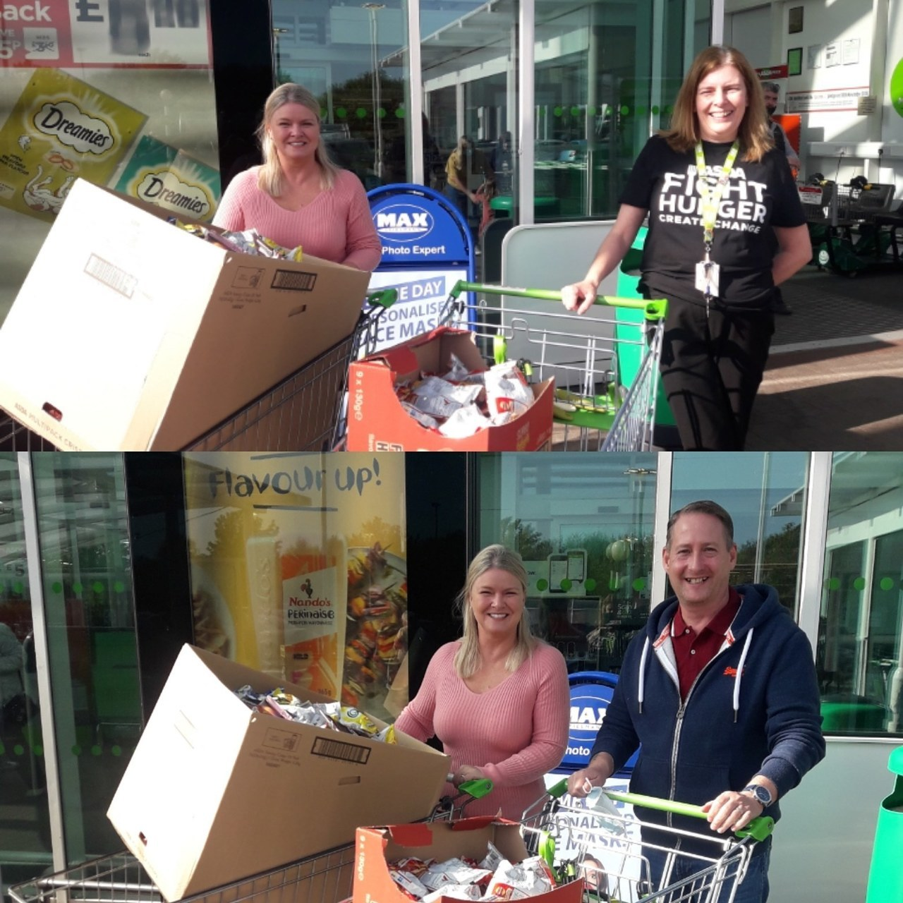 Hamilton Churches Drop In Centre donation | Asda Hamilton