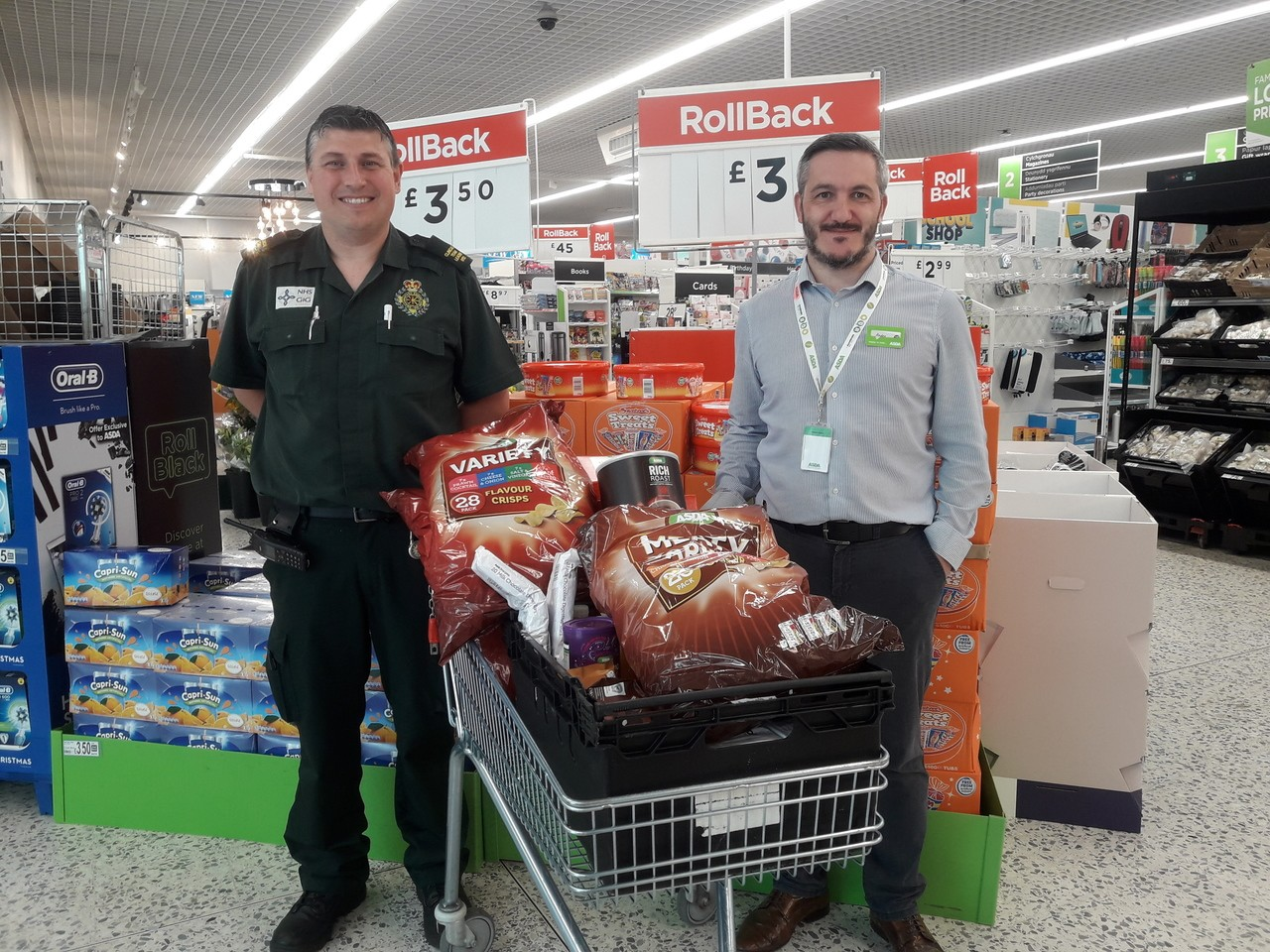Donation to ambulance station | Asda Newport