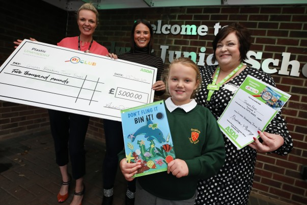 Jaydan Frost from Grindon Broadway Junior School won £5,000 for her school from the Asda Plastic Investigators initiative
