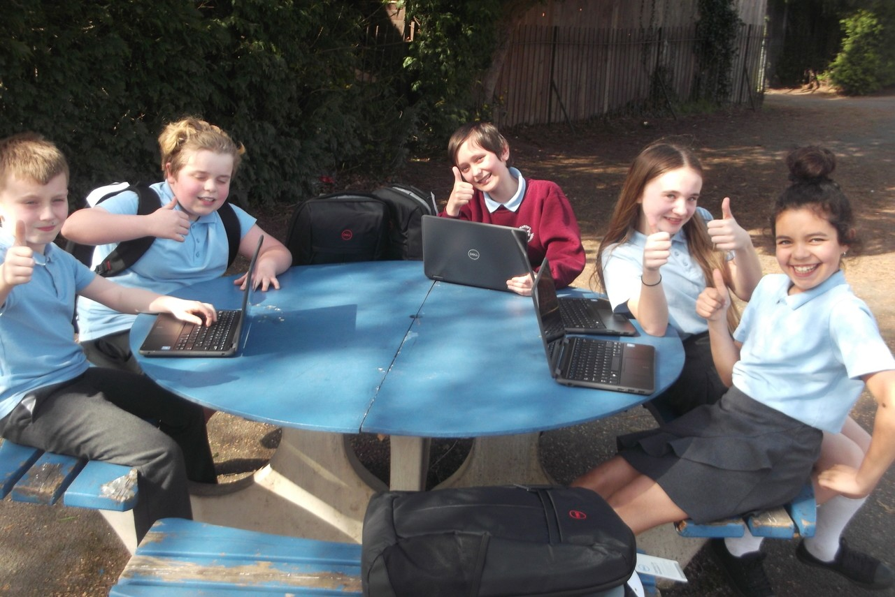 St Martin's Primary School thrilled with laptop donation | Asda Hereford