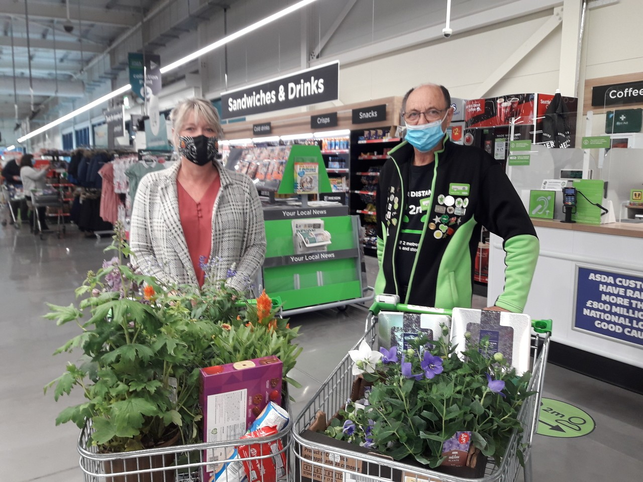 Donation of flowers and biscuits to local care home | Asda Barnstaple