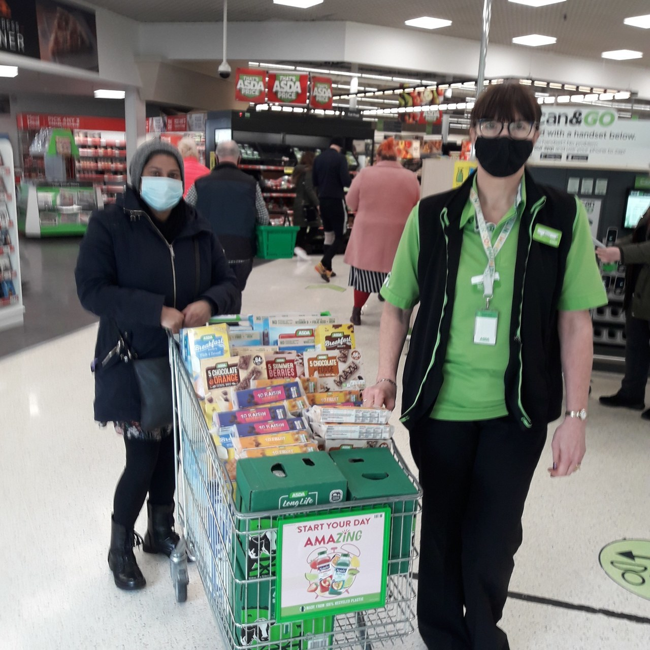 Donation of breakfast item to Marsden Community college  | Asda Colne