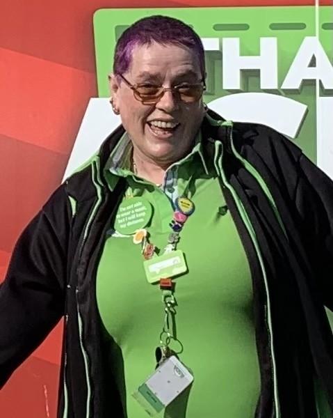 Rhyl colleague Diane has wavy locks cropped to raise money for Tickled Pink   Asda Rhyl