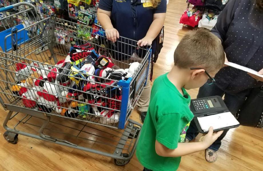 Kid Santa Shopping