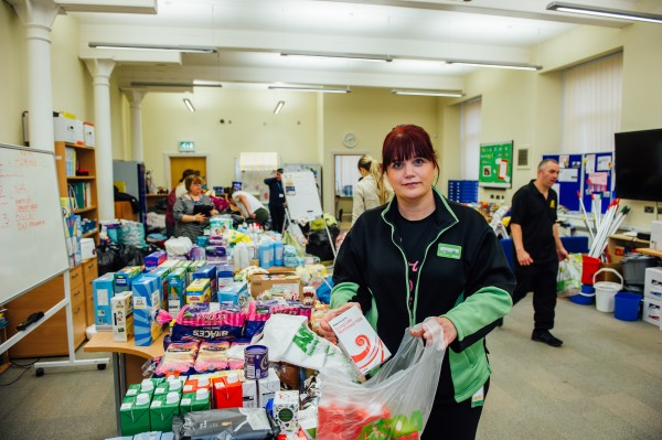Asda Blackwood community champion Lucie helps food victims of Storm Dennis