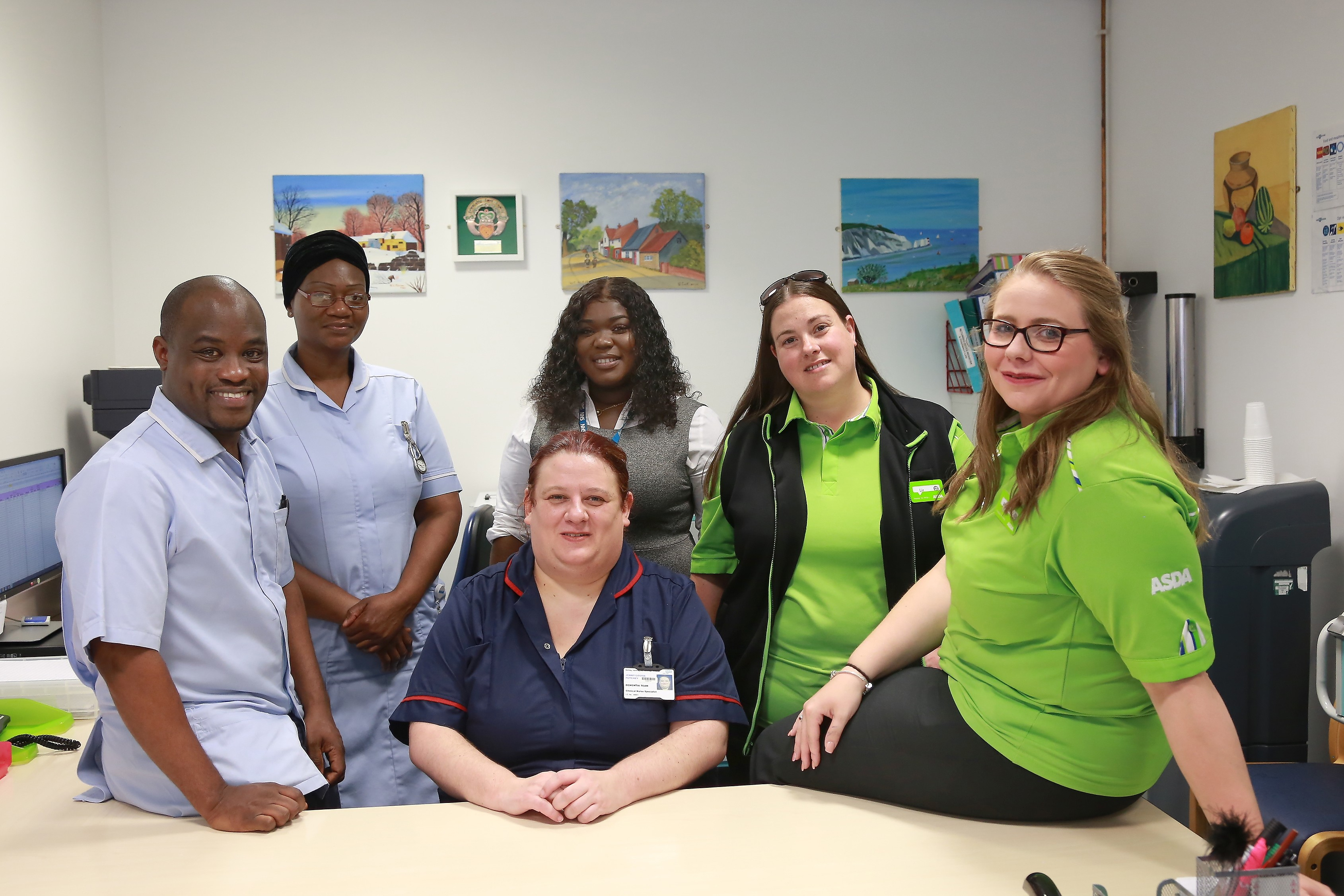 Asda Chadwell Heath donated £25,000 to the King George and Queen's Hospital Charity
