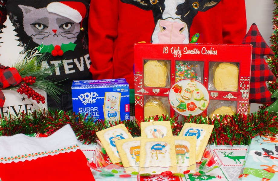 Ugly Sweater Pop-tarts and Sugar Cookie Cookies on table