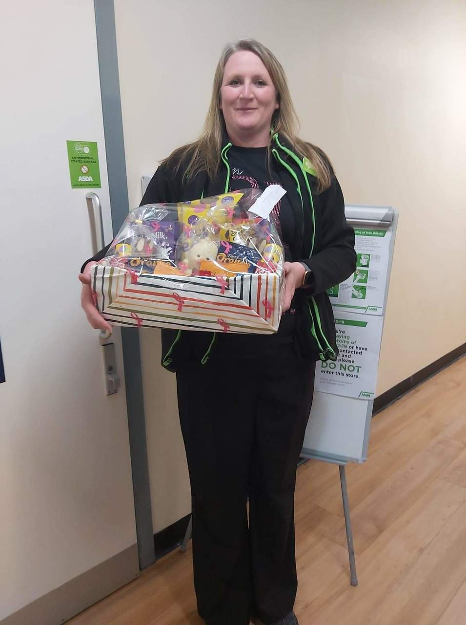 Tickled Pink Easter raffle for colleagues | Asda Llangefni