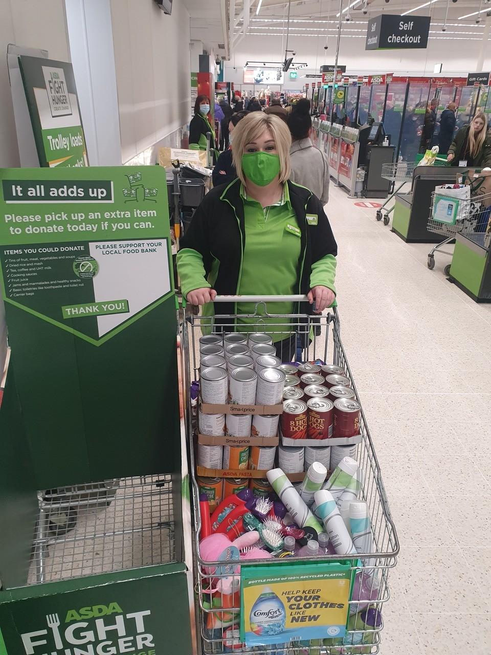 Ayrshire East Foodbank support   Asda Kilmarnock