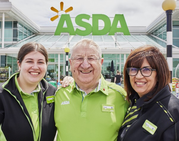 Jack works at Asda Sheffield with his daughter Maria and granddaughter Alicia