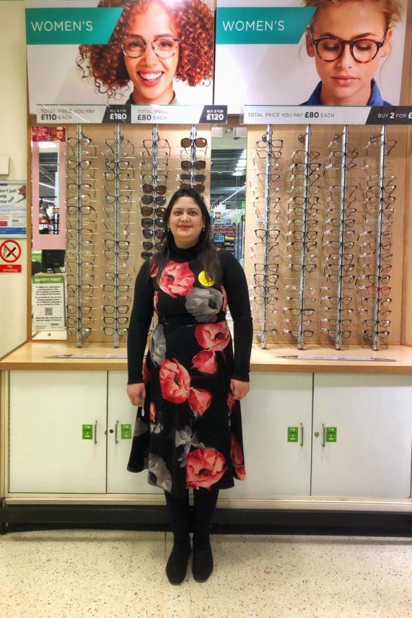 Sobia Jabeen optical manager at Asda Leyton Mills
