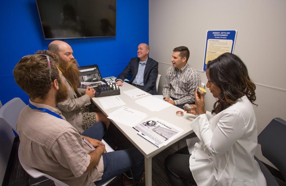 A Walmart buyer meets with Beard Balm, LLC at the 2017 Walmart U.S. Open Call event