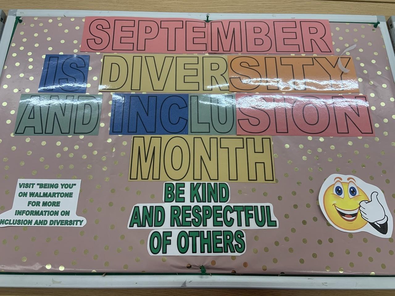 Inclusion and Diversity Month | Asda Sittingbourne