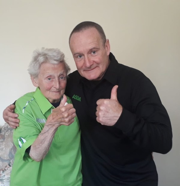 Gareth Williams from Asda Shrewsbury with his mum Jean