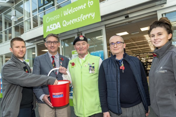 Asda Queensferry supporting the Royal British Legion Poppy Appeal