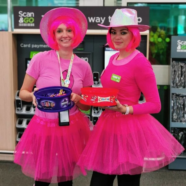 Crawley store colleagues dress up to support Tickled Pink