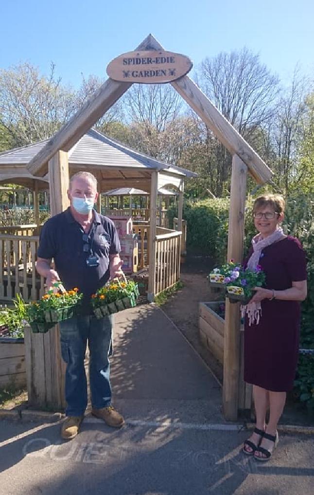 School Garden Donation   Asda Bromborough